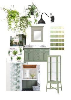 Quirky Bathroom, Green Bathroom Decor, Green Home Decor, Bathroom Plants, Bathroom Renos, Bathroom Inspo, Bathroom Flooring, Master Bathroom, Bathroom Ideas