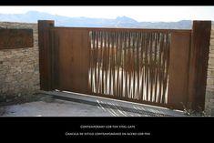 Joli portail en alliage acier -cuivre auto patinant.