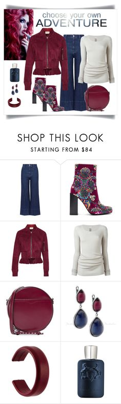 """Jeffrey Campbell Beaded Stratford Bootie Look"" by romaboots-1 ❤ liked on Polyvore featuring STELLA McCARTNEY, Jeffrey Campbell, Cédric Charlier, Rick Owens, Rebecca Minkoff, Isabel Marant and Parfums de Marly"