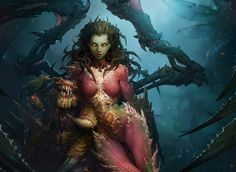 General 1920x1400 video games StarCraft Blizzard Entertainment Sarah Kerrigan Zerg science fiction demon creature Queen of Blades StarCraft II : Heart Of The Swarm