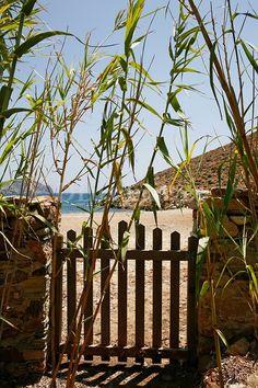 Gate leading to beach