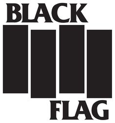 black flag logo (designed by raymond pettibon, typeface: friz quadrata)