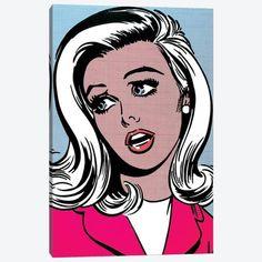 Pink Canvas Art, Canvas Artwork, Canvas Frame, Canvas Wall Art, Canvas Prints, Art Prints, Pop Art Face, Framed Art, Framed Prints
