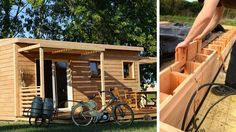 Brikawood: An ecological house built with wooden bricks