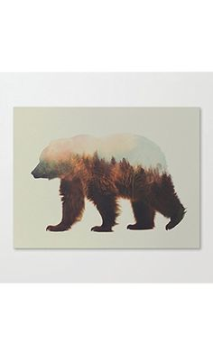 Norwegian Woods The Brown Bear Art Canvas Wall Art Prints 12 x 16 Inch Framed Modern Decor Paintings Artwork for Living Room and Bedroom Decorations Best Price