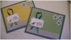 I really love the Four Frames stamp set by Stampin' Up! It is one of my favorites
