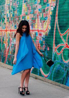 Ashley Settingiano - Color Stream - silverstile.com City Streets, One Shoulder, Unique, Color, Inspiration, Beauty, Dresses, Fashion, Biblical Inspiration