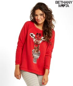 Sequin Giraffe Sweatshirt from the Bethany Mota Holiday/Winter Collection at Aeropostale