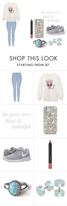 """""""Untitled #243"""" by dreamarie151 on Polyvore featuring Topshop, Chicnova Fashion, PBteen, NIKE, MAC Cosmetics, women's clothing, women, female, woman and misses"""
