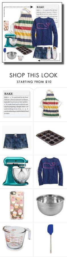 """""""Let's bake!"""" by gabgirl54321 ❤ liked on Polyvore featuring Williams-Sonoma, J.Crew, Circulon, KitchenAid, Casetify, Tovolo and Converse"""