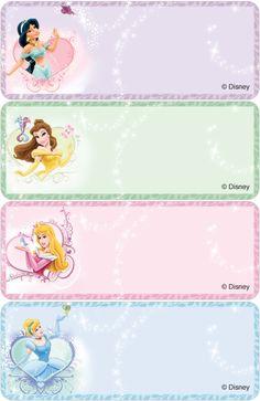 Disney Princesses Address Labels