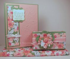 Stampin' Up! Mother's Day card and gift set