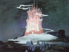 Cinderella's Castle concept art by Mary Blair