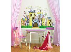 WALLIES Wandsticker Wandaufkleber Prinzessin-TraumschlossDer spannende Wandsticker Traumschloss zeigt ein komplettes fix und fertig gestaltetes Märchenschloss für Dein Kinderzimmer. Viele Türme mit wehrhaften Zinnen, ein großes stabiles Holztor und mehrere der hübschen Burgfräulein oder Prinzessinnen bevölkern das Märchenschloss. Über allem weht ein großes Banner wie im Mittelalter üblich.