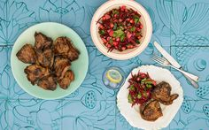 Poh's Rosemary Honey Soy Lamb Chops with Beetroot & Chickpea Salad