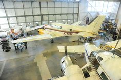 We have a fully equipped hangar for our aerospace and avionics students. Centennial College, Gatwick Airport, Taxi, Fighter Jets, Transportation, Aircraft, Students, Universe, City