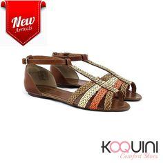 Rasteirinha #tresse e horfix envelhecido, combinação perfeita em couro #koquini #comfortshoes #euquero Compre Online: http://koqu.in/2dPTV5U