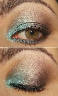 love this! it's colorful without being overwhelming. this website has lots of great makeup ideas (it's in French, but pictures are enough!)