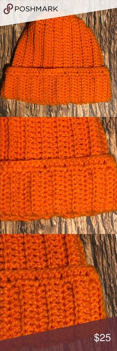 Men's or lady's Hunting beanie bright orange Hunting beanie hat Acrylic yarn Size inches adult Hand crochet in a smoke and pet free environment This item is made and ready to ship yarn hot off the hook Accessories Hats Yarn Sizes, Beanie Hats, Hand Crochet, Orange Color, Knitted Hats, Plus Fashion, Fashion Trends, Hunting, Environment