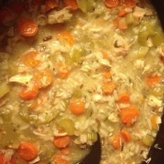 Creamy chicken and wild rice soup {Crock Pot Recipe}. Love love love this soup!  One of the best recipes I've tried!
