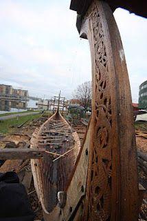 Viking ship building.
