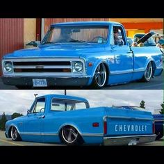 Hot Wheels - Nice and clean looking the part sitting low and tucking some wheel! 67 Chevy Truck, Vintage Chevy Trucks, Classic Chevy Trucks, Chevy C10, Chevy Pickups, Lowered Trucks, C10 Trucks, Pickup Trucks, American Muscle Cars