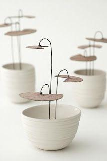 "ccchicpotpourri: "" (via Atelier Clémentine Dupré Ceramic Clay, Ceramic Pottery, Keramik Design, Keramik Vase, Parasol, Paperclay, Artisanal, Earthenware, Potpourri"