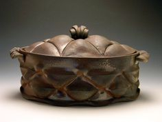 This is a beautiful covered dish. It was just working around the studio and playing with a few ideas I had been thinking about and POOF! this appeared.
