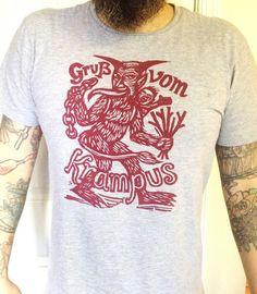 krampus cotton t-shirt