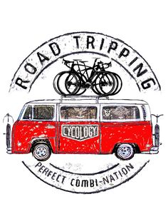 Road Tripping III - Inspired by a weekend road trip. A van loaded with bikes, new trails, a bunch of friends and NO time restraints.