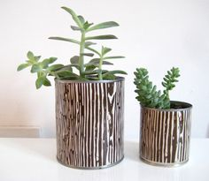 How to make a planter from a can.