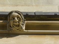 Sandstone Sculpture of a Funny Face, on the Wall of a Building Photographic Print by Joe Petersburger at AllPosters.com