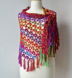 20 Free Crochet Summer Poncho Patterns for Women's Poncho Crochet, Poncho Shawl, Crochet Shawls And Wraps, Knitted Shawls, Crochet Scarves, Crochet Clothes, Free Crochet, Crochet Hats, Shawl Patterns