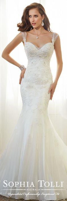 The Sophia Tolli Spring 2015 Wedding Dress Collection - Style No. Y11569 Jarita www.sophiatolli.com #weddingdresses
