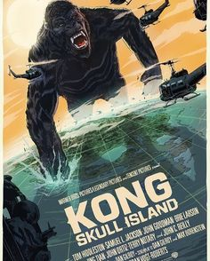"853 Likes, 11 Comments - MONDO (@mondotees) on Instagram: ""All hail the king. Check out @f_francavilla's awesome KONG: SKULL ISLAND poster, available this…"""