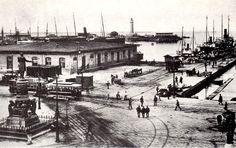 Trieste-Italy Piazza Venezia e il Magazzino Vini