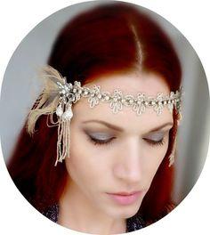 ART DECO BRIDAL HEADPIECES   Art Deco Wedding Headpiece