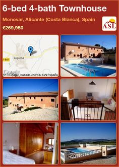 Townhouse for Sale in Monovar, Alicante (Costa Blanca), Spain with 6 bedrooms, 4 bathrooms - A Spanish Life Single Bedroom, Double Bedroom, Two Bedroom, Family Bathroom, Ceiling Beams, Entrance Hall, Open Plan Living, Maine House, Townhouse