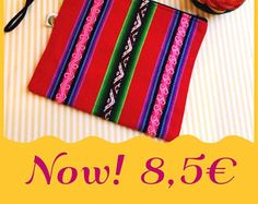 Bolso de mano hecho a mano, telar andino, manta peruana,boda,fiesta de noche, regalo, clutch etnico, colores etnicos, folk, boho