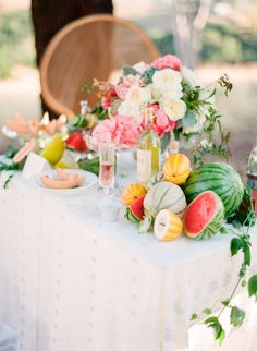 #fruit #tablescape #summer Photography by cocotranphotography.com  Read more - http://www.stylemepretty.com/2013/08/05/summer-inspired-photo-shoot-from-coco-tran-photography/
