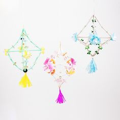 Festive mini paper chandeliers or pajaki for Crafting Community's Handmade Holiday