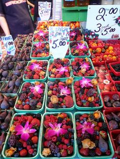 Just posted some pictures from Marche Jean-Talon in Montreal from a few weeks back. Strawberries were just in season, and you could try alm. Montreal With Kids, I Am Always Hungry, Almond Croissant, Market Stands, Cheese Quiche, Pork Tacos, Tomato And Cheese, Short Ribs, Deli