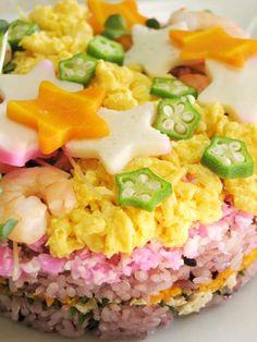 【もち黒米】お星様のちらし寿司ケーキ