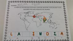 Hoy iniciamos nuevo proyecto en clase con mucha ilusión y entusiasmo, como siempre. Para terminar nuestro primer año de cole, vamos a reali... Taj Mahal, India, Blog Page, Bullet Journal, World, Tanzania, Ideas Para, China, Egypt
