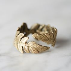Hand-crafted exclusively for terrain, this delicate, adjustable ring began with real botanical specimens chosen from our nursery by designer Michael M