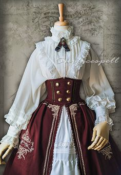 Retro glam looks of the past are back in a big way-and not just on runway supermodels. Steampunk Costume, Steampunk Clothing, Steampunk Fashion, Steampunk Corset Dress, Vintage Outfits, Vintage Fashion, Vintage Style, Estilo Lolita, Lolita Dress