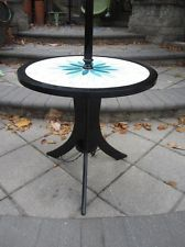 OUTSTANDING AND RARE HARVEY PROBBER TILE TOP LAMP TABLE MID-CENTURY MOD DANISH