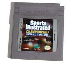 Sports Illustrated Championship Football & Baseball by Championship Football, Original Nintendo, Game Boy, Sports Illustrated, Nintendo Games, Stocking Stuffers, My Etsy Shop, Baseball, The Originals