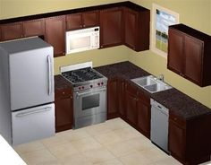 Elegant 8 X 8 Kitchen Layout Add Microwave Above Stove U0026 Small Dishwasher. Should  Leave Enough Storage Space For Essentials. Shelves In Laundry Room Could  Serve As ...