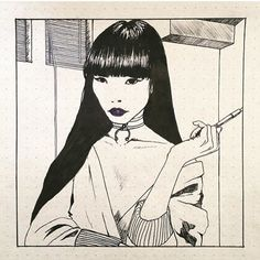 Page of artistic diffusion with the best of the illustration in the web. Kunst Inspo, Art Inspo, Art And Illustration, Pretty Art, Cute Art, Aesthetic Art, Aesthetic Anime, Art Sketches, Art Drawings